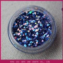 2015 mixed blue color crafts suppliers glitter QTA21
