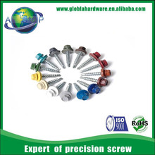 Metal Roof screw with colored head For corrugated roofing