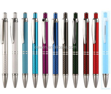 Fashionalbe click action metal pen,Aluminium pen in ballpoint pen gel ink refill DW-CK1525AL