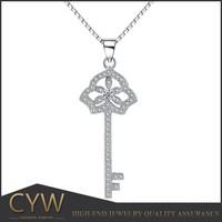 nepal handmade sterling silver jewelry set silver key shape pendant for women