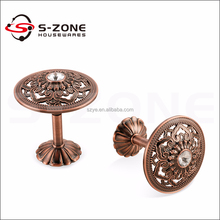 Beautiful fancy zinc material hook tiebacks for curtain rod