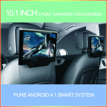 2014 hot selling 10.1 inch car headrest , car Headrest dvd, car headrest suit for all cars