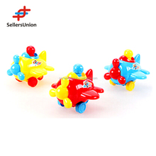 Hot selling plastic pull line function plane promotional toy for kids HWA1039183
