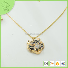 2012 Fashion Gold Plated Animal Tiger Pendant Necklace