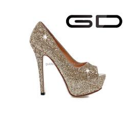 nice dress high heel shoes ladies pumps women high heel peep toe