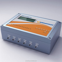Desktop fluorescence optical fiber temperature measuring instrument