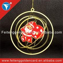 2015 best selling custom decorating santa xmas ornament