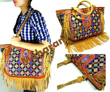 Designer Leather Fring Hobo Bags Tribal Banjara Handbags