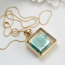 Fashion jewelry wholesale dry/pressed real flower locket pendant necklace