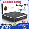 Kodi TV Box Aluminum Dual Band 2.4ghz / 5ghz Wifi Quad Core AML S812 3D Full HD Media Player