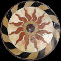 Water Jet Marble Medallion Marble Floor Medallions MM03