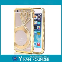 For Iphone 6 fashionable full crystal bling stone diamond case - Golden diamond Cover