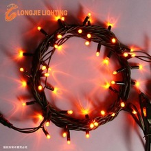 5m 50 leds red led Christmas underwater string lights with rubber wire