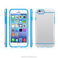 Mixed color tpu pc case transparent pc back case for iphone 6 6 plus