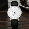 Homens de aço inoxidável relógio de pulso de duas mãos com pequeno segunda mão japão relógio de quartzo movimento