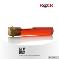 Personal Care Industrial Use and Hot Stamping Surface Handling empty glass tube with wooden cork