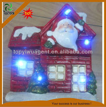 fashion christmas house ornament with resin light