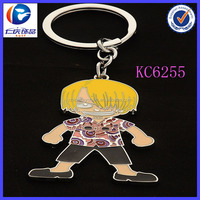 Personalized Arts And Craft Souvenir Fashion Hip Boy Shaped Metal Keychain