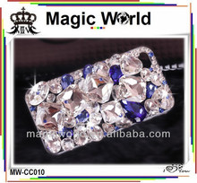 Luxury jewelry crystal cell phone case for samsung s3