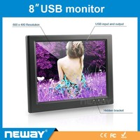 Top Manufacturer 8 inch USB Touch Screen LED resistive Monitor