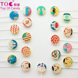 round fruit colorful lollipop sweet