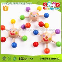 Venta al por mayor colorida Mini Peg top de madera del juguete barato