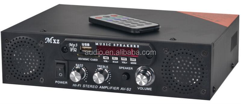 Av-s2 intégré- batterie mini portable parleur amplificateur