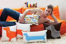 Bespoke animal pattern printed sofa decorative floor throw pillow chair back support long body dog cushion