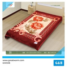 china manufacturers baby red moving blanket weft flower blankets
