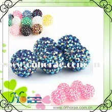 resin rhinestone ball beads,resin ball for bracelet