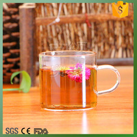 Cheap and low price 6pcs Gusong Glass tea cup set