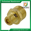 yuhuan manufacturer high quality competitive price 3/8 inch forged brass male threaded reducer pipe fitting adapter