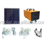 Eco-friendly China Supplier mobile home solar system with LCD display and DC/AC output