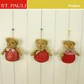 Adorável velet decoração de interiores atacado teddy bear mini