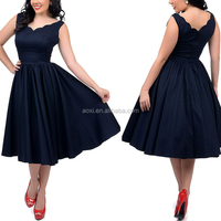 Fashion apparel supplier scoop V neckline plain pattern new design women long frocks