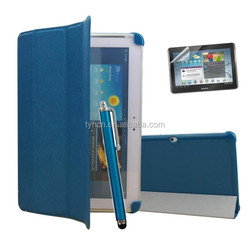 Business Folio Pu Leather Cover Case with Stands For Samsung Galaxy Tab 2 10.1 P5100 P5110