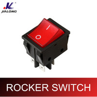 UL VDE CE KCD4 16A 250VAC DPST LED electronic rocker switch with light