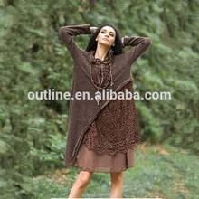 Mezcla de tamaños, colores al por mayor cosecha huecos a cabo cordón elegante abrigo estilo de vestir