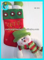 2013 latest style Knitted wholesale mini christmas sock cheap christmas stockings