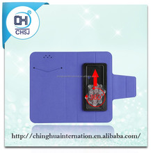 """PU leather mobile Phone Wallet cases with special Slider for universal 5""""phone"""
