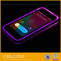 High Quality Bumper In Coming Call LED Flash Light TPU PC Transparent Rock Case for iPhone 6