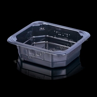 Black pet food container, clear plastic food disposable container