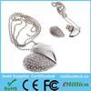 hot selling! crystal heart usb flash drive, heart shaped jewelry usb flash stick,usb 2.0