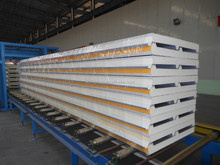 Metal polyurethane sandwich panel with insulated / fire rated polyurethane foam