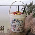 Plástico 32 onças cruzan. Rum pkastic balde de praia copo bebendo
