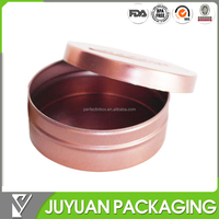 New product custom lip balm metal tin/small round tin box for lip balm packaging can