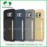 wholesale alibaba mobile phone leather case cover PU TPU newest style with card slot for samsung galaxy s6 edge case
