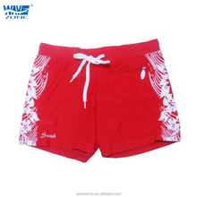 Men's swimming trunks with pocket and flower printing