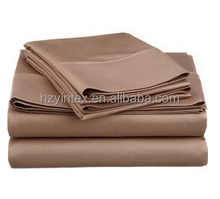 Simple Luxury Cotton Rich Count Solid Sheet Set Size: Twin, Color: Taupe
