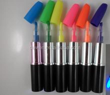 2015 Hot selling ---SHANGHAI DEWEN Novelty 2 in 1 stylus touch pen and ball pen lip stick pen